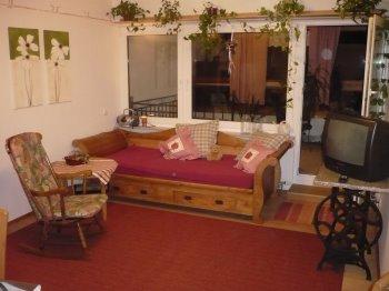 Wohnzimmer der Ferienwohnung in Amberg